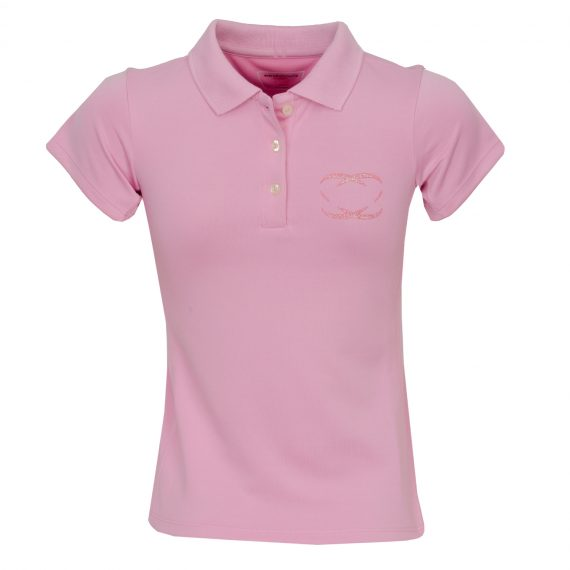 everyshotcounts-Junior golf polo baby pink-1